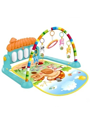 Birlik Oyuncak He0639 Babycim Pianolu Oyun Halısı Mantar/Unicorn/Balina Renkli